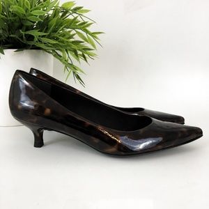 Stuart Weitzman Kitten Heel Patent Leather Shoes